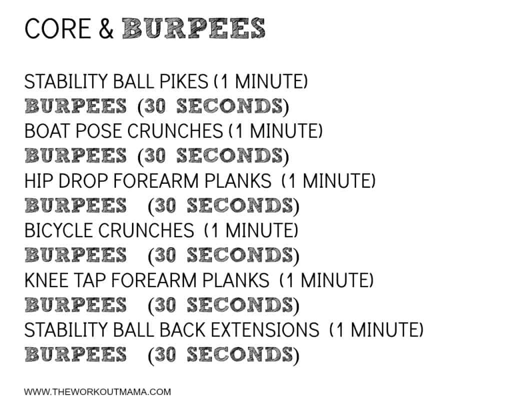 Core & Burpees