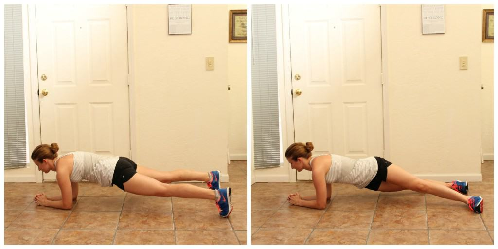 Hip Drop Forearm Planks