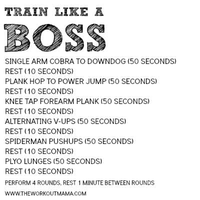 TRAIN LIKE A BOSS WORKOUT