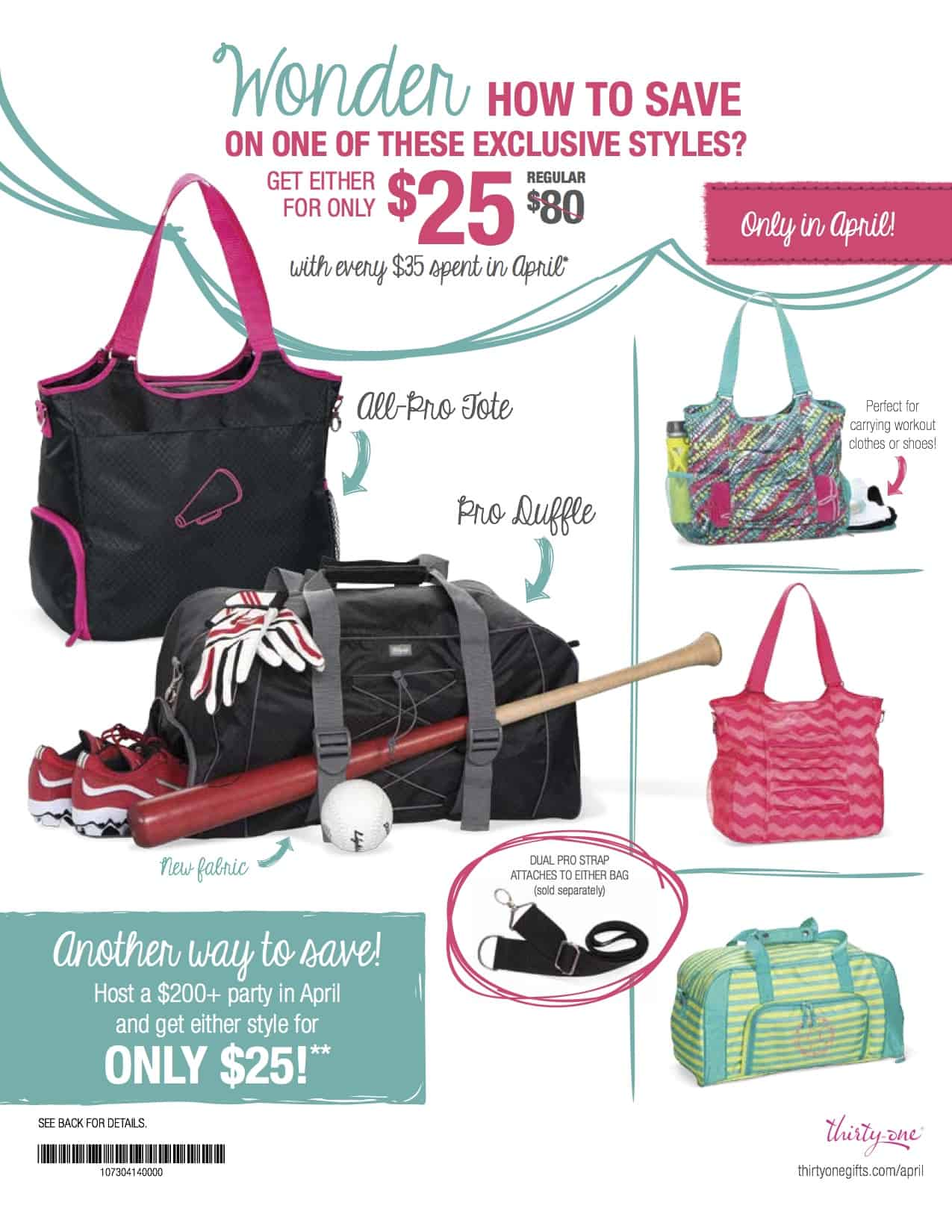 April 2017 Thirty One Deals