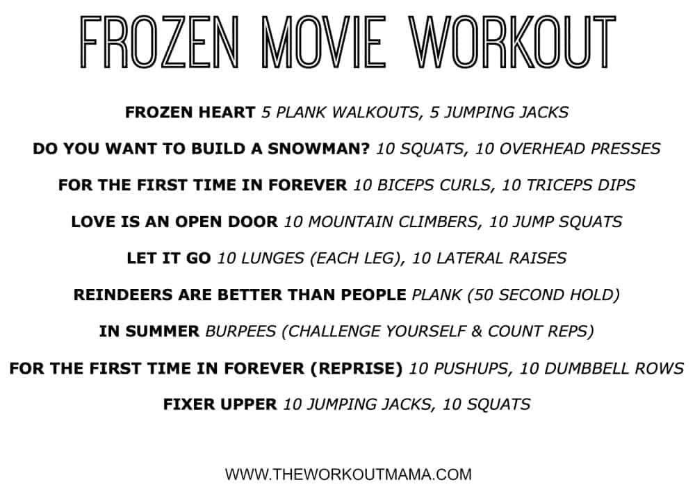Frozen Movie Workout