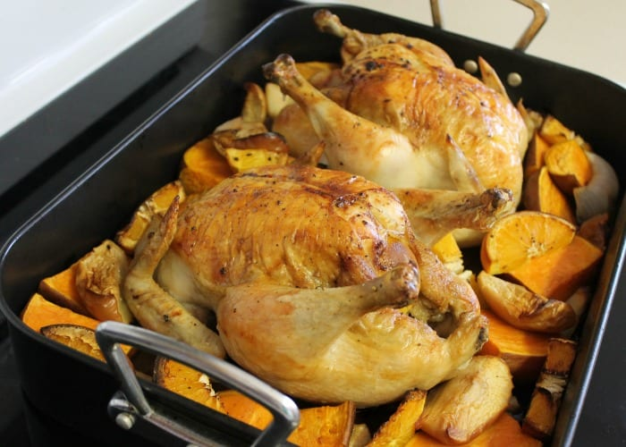 Double Roast Chicken