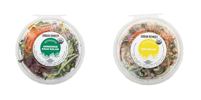 Urban Remedy Shredded Kale Salad & Zen Salad
