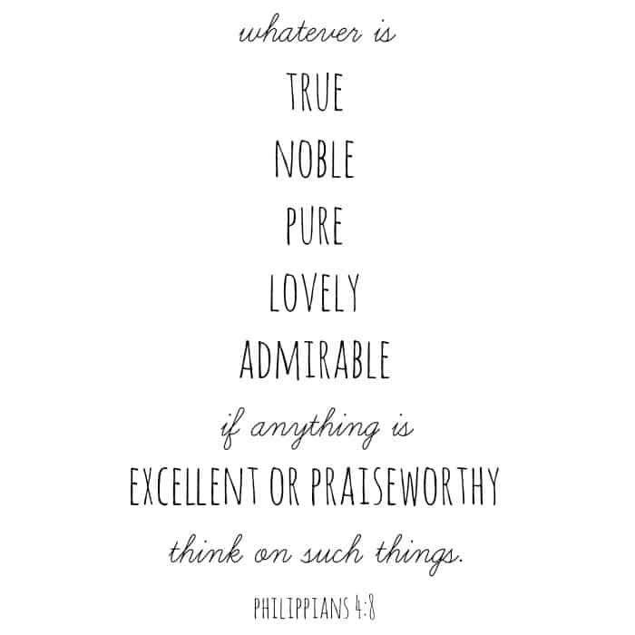 Philippians Chapter 4 Verse 8
