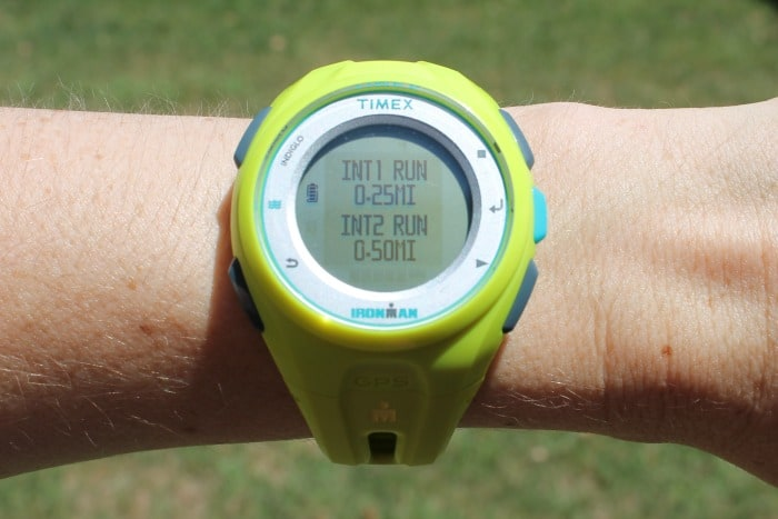 Timex Run x20 GPS Interval Function