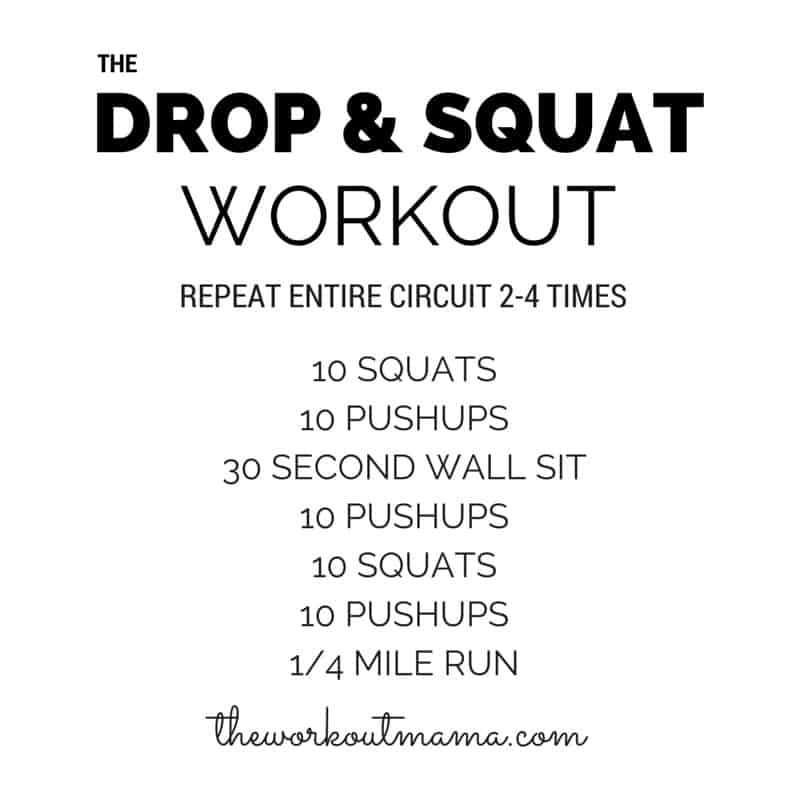 Drop & Squat Workout