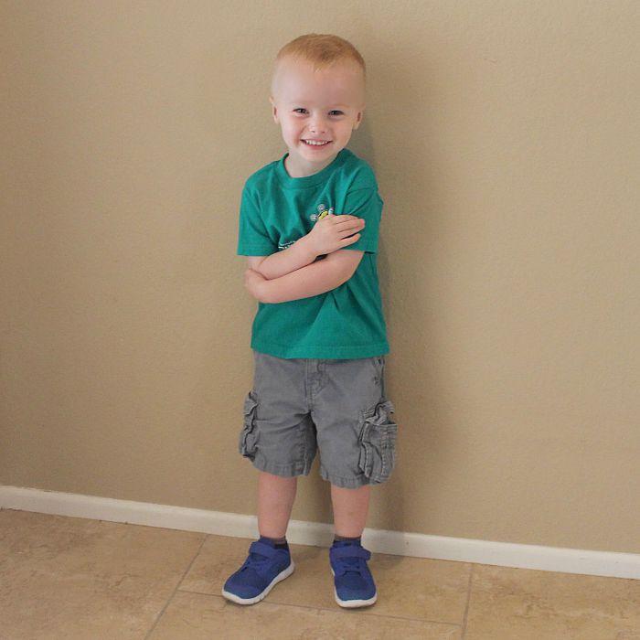 Caden's First Day of Preschool