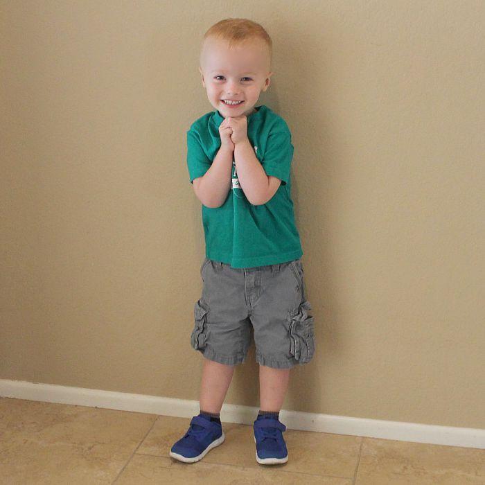 First Day of Preschool Caden
