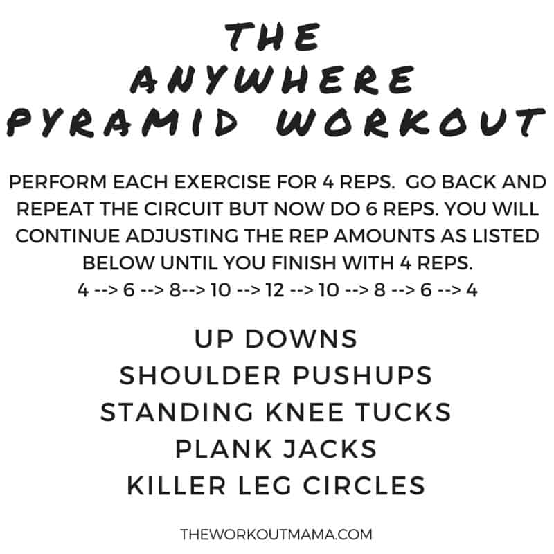 the anywhere pyramid workout