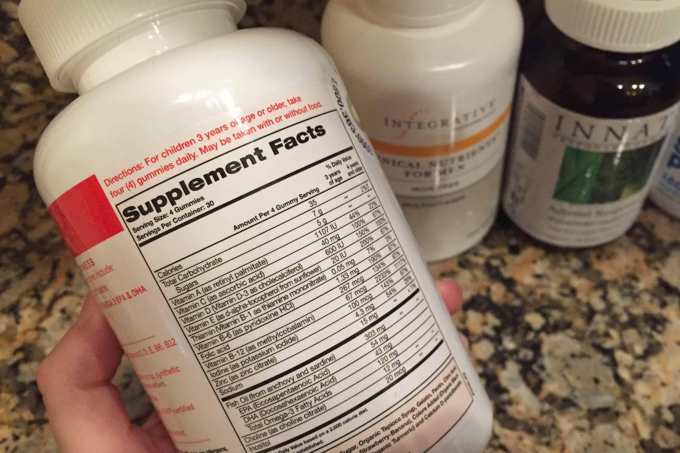 SmartyPants Kids Complete Vitamin Label