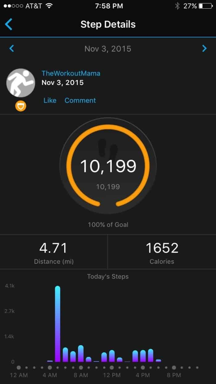 Garmin vívofit 2 Step Screenshot